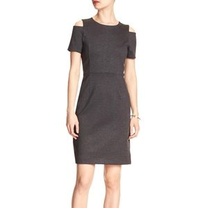 Banana Republic Cold Shoulder Ponte Sheath Dress